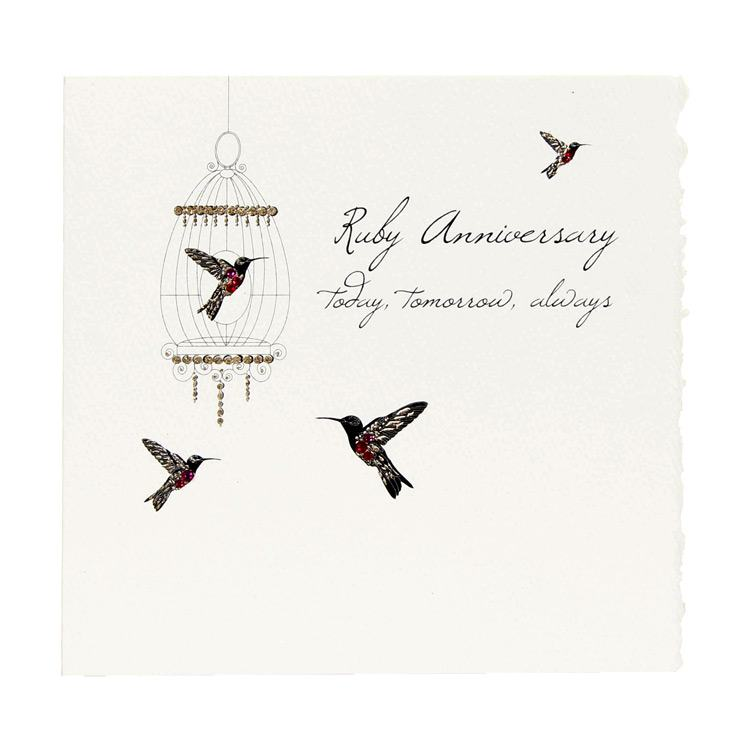 five dollar shake ruby anniversary card