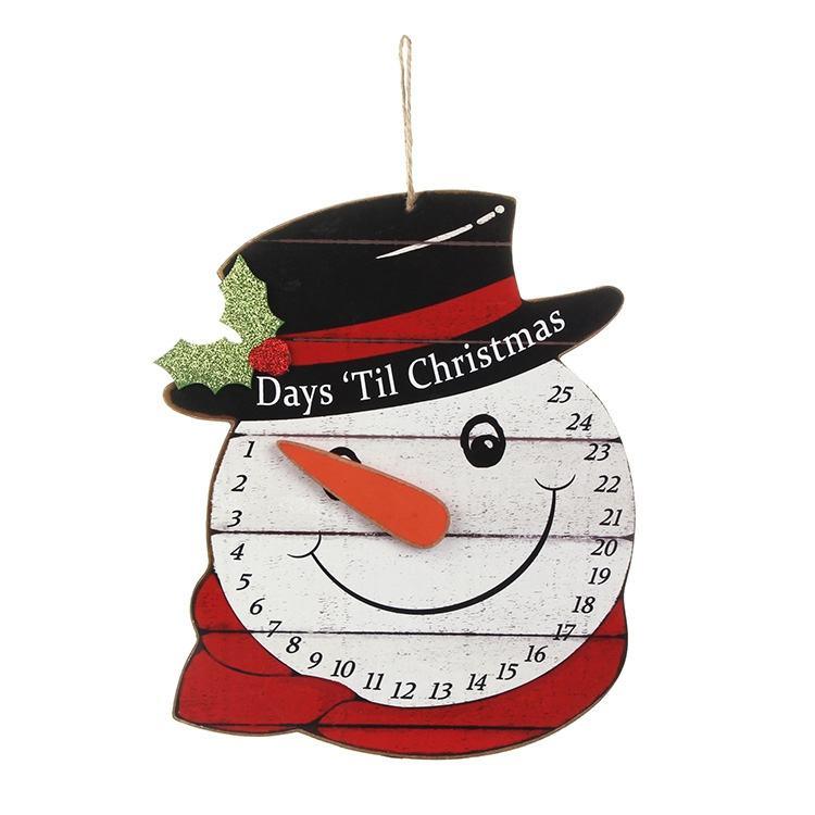 Snowman Hanging Advent Calendar