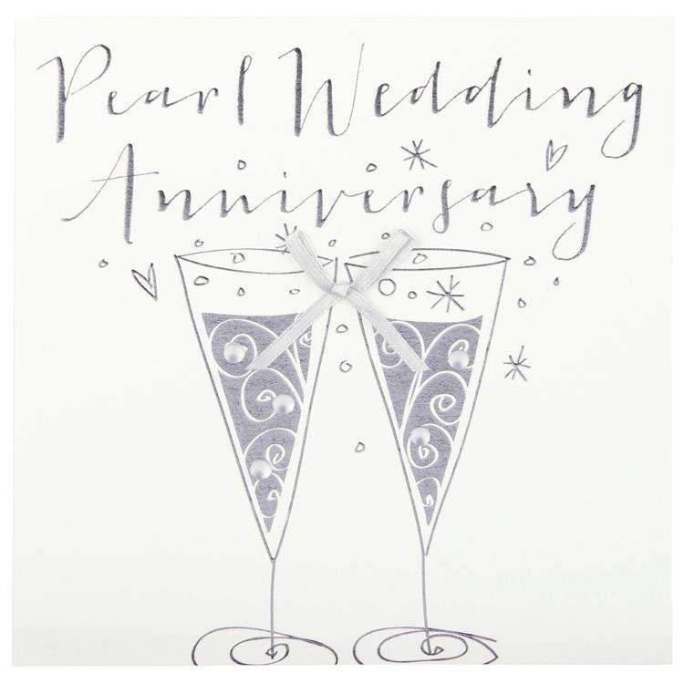 Belly Button Paloma Pearl Anniversary Glasses Card