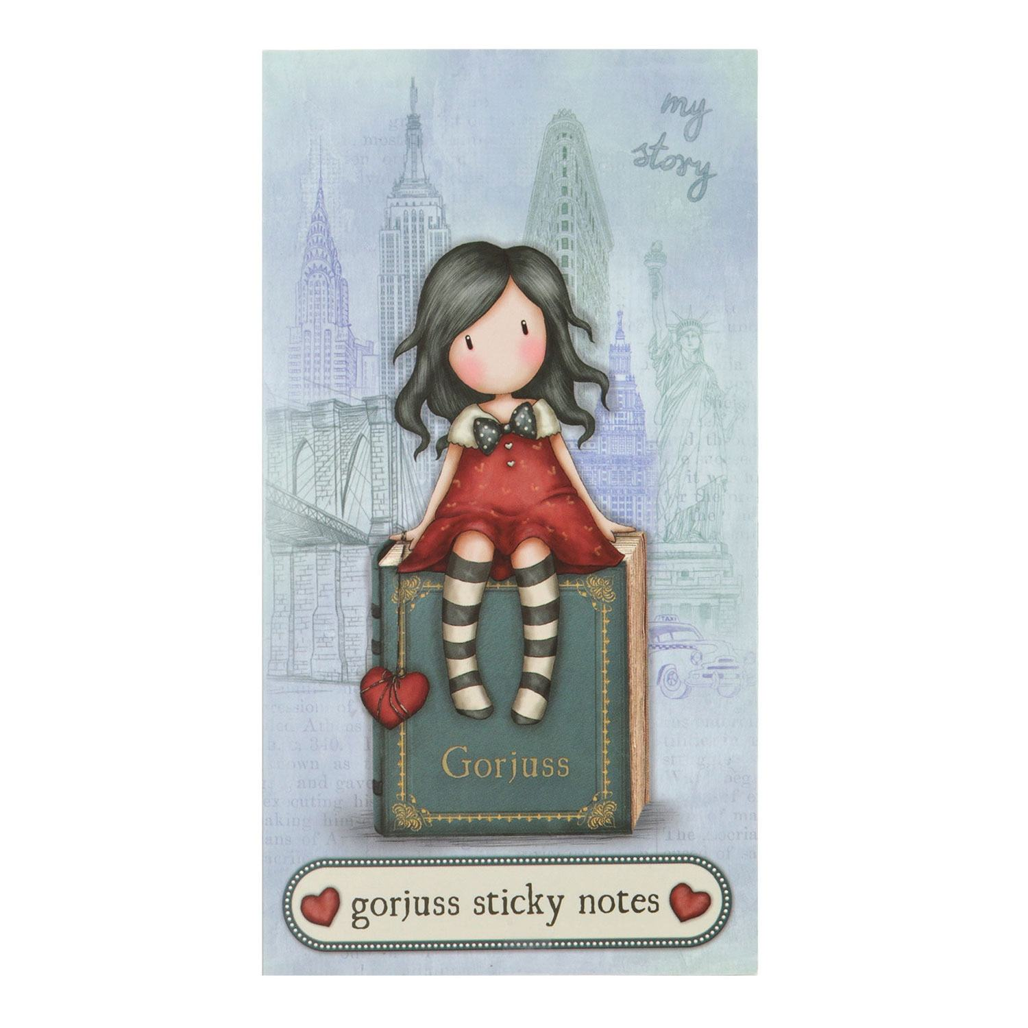 Desktop Articles & Accessories|Paper, Writing Pads etc.|Stamps|Purses & Wallets|Calendars|Gifts for Women|Wedding Gorjuss Cityscape My Story Book of Sticky Notes