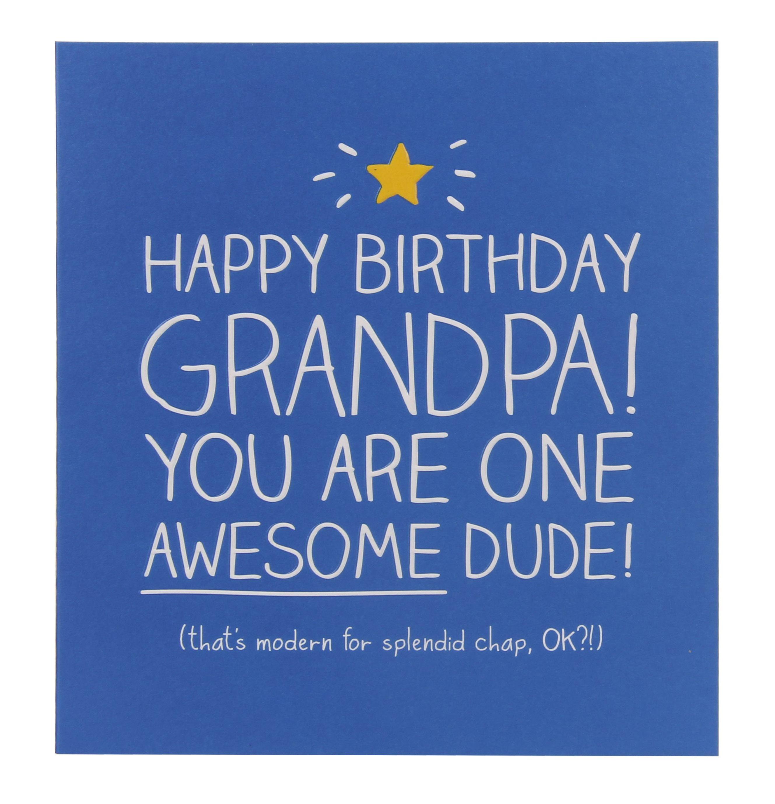 Happy Jackson Awesome Grandpa Birthday Card
