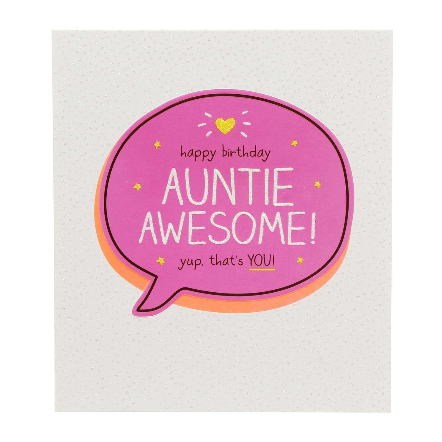 Happy Jackson Auntie Awesome Yup. Thats You! Card