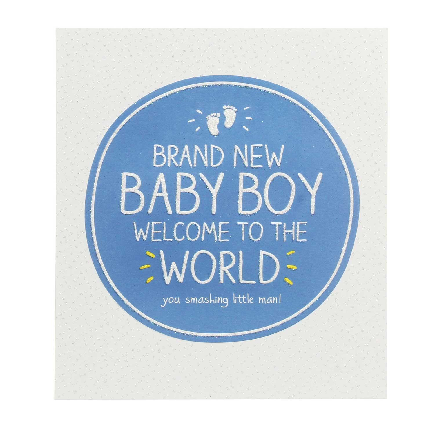 Happy Jackson Baby Boy Welcome To The World Card