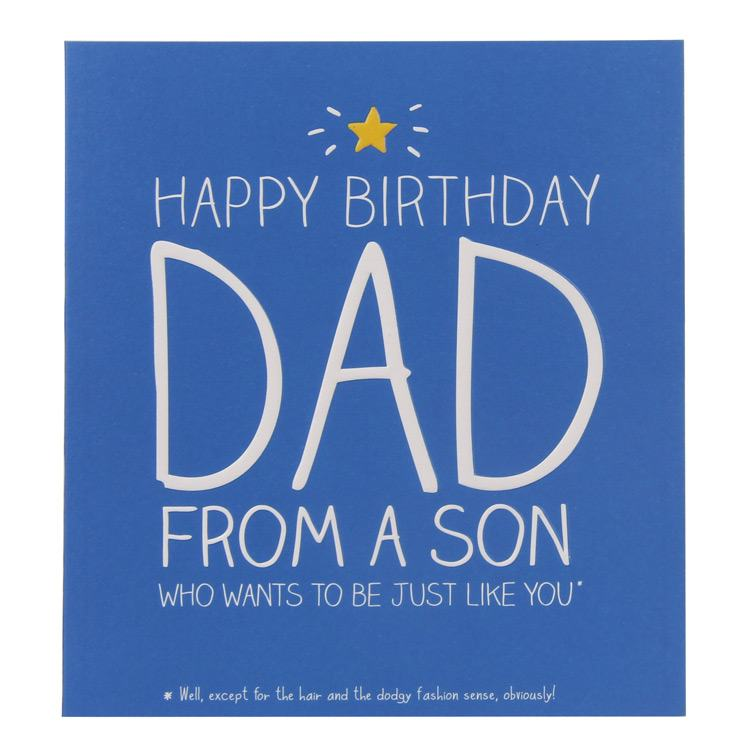 Happy Jackson Just Like You Dad Card