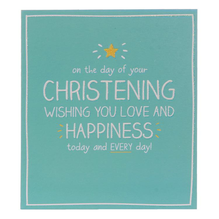 Happy Jackson Christening Love And Happiness Card
