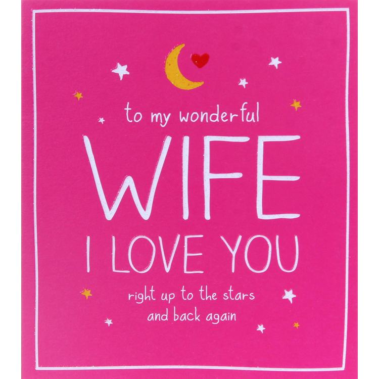 Happy Jackson Wonderful Wife Valentines Day Card