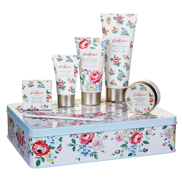 Cath Kidston Meadow Posy Complete Hand Care Set in a Tin