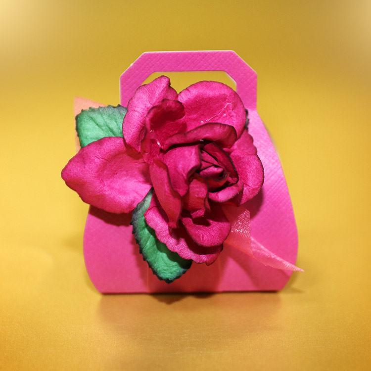 Magenta Rose Handbag Box Chocolate Mint Crisps