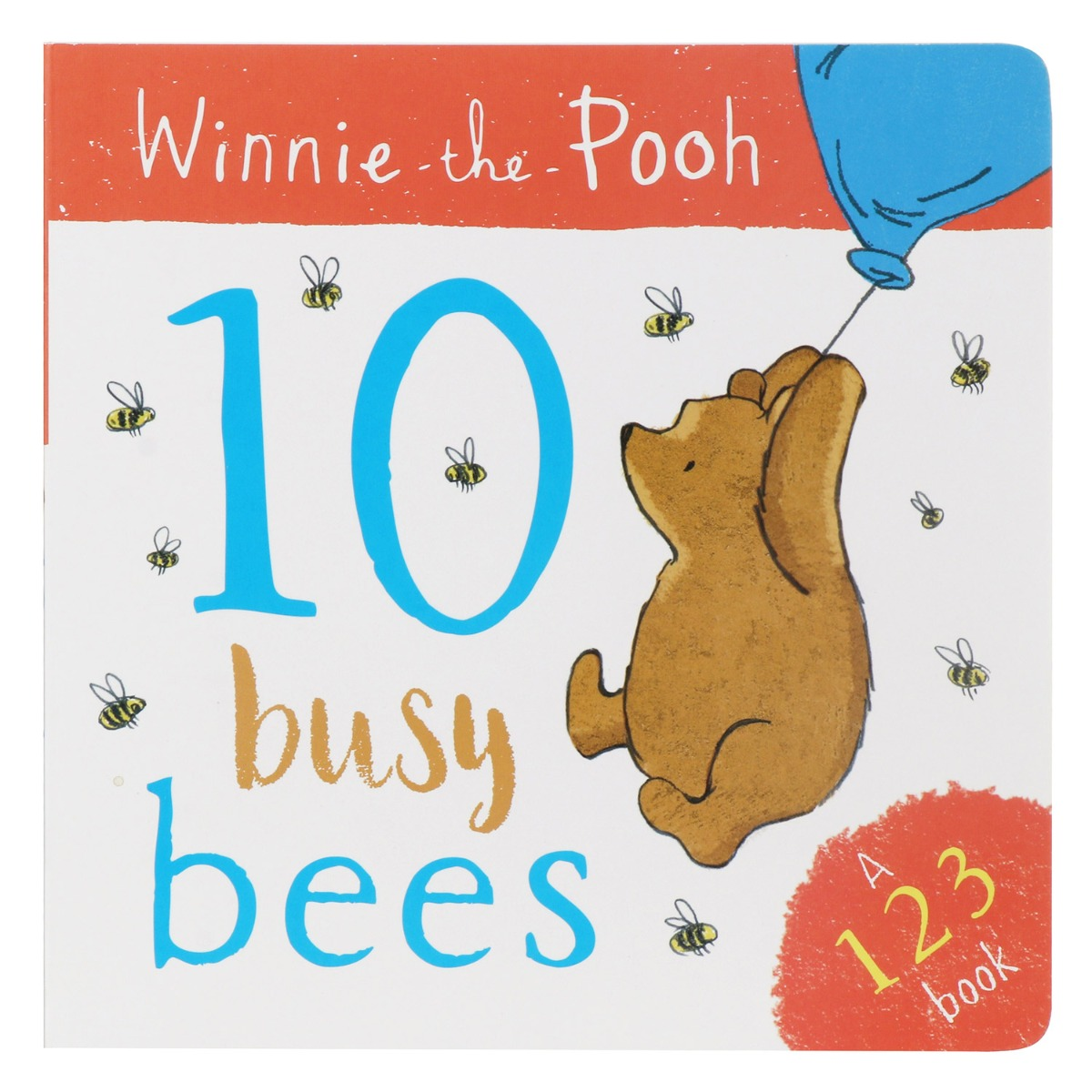 Winnie The Pooh 10 Busy Bees (123) Board Book