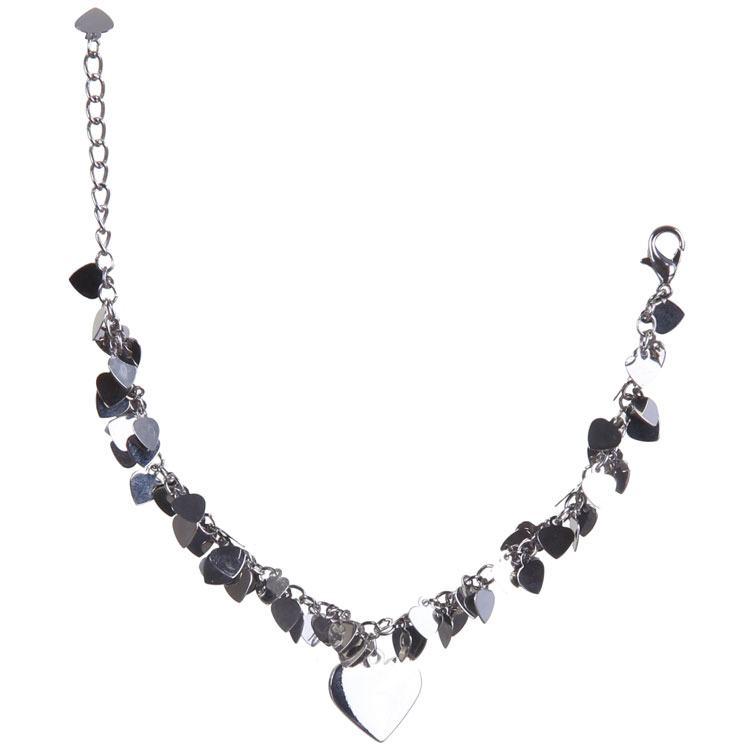indulgence rhodium hearts bracelet