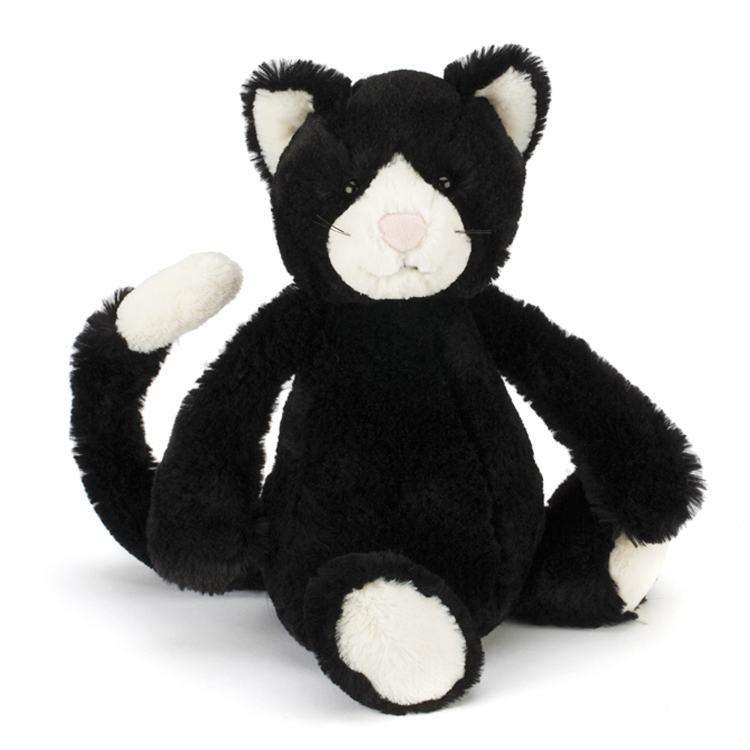 Jellycat Medium Bashful Black and White Kitten