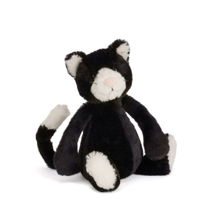 Jellycat Small Bashful Black & White Kitten