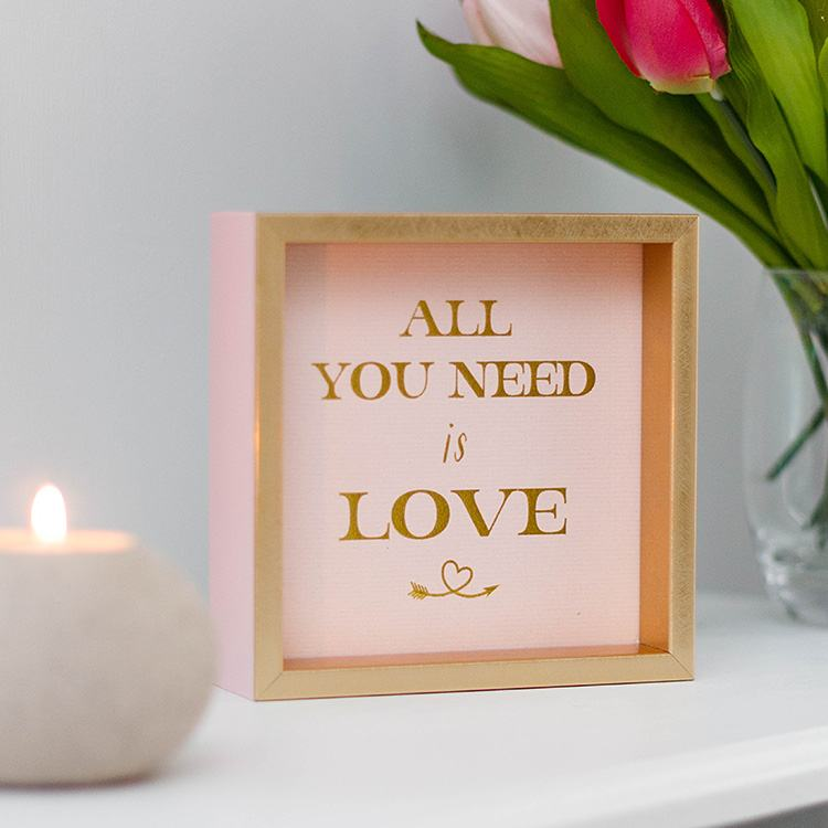 Golden Sentiments `All You Need is Love` Sign