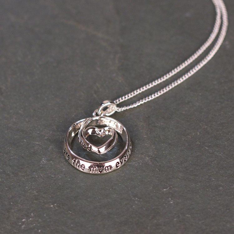 equilibrium heart in circle mum necklace