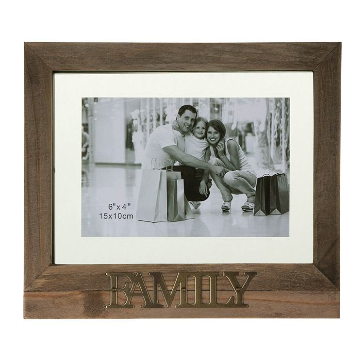 Rustic Style 6x4 Floating Family Photo Frame