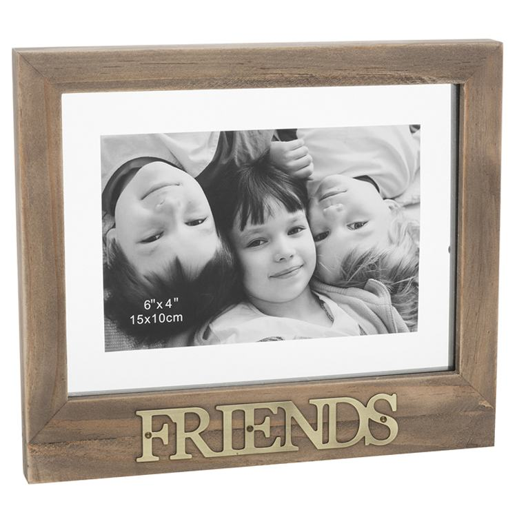 Rustic Style 6x4 Floating Friends Photo Frame