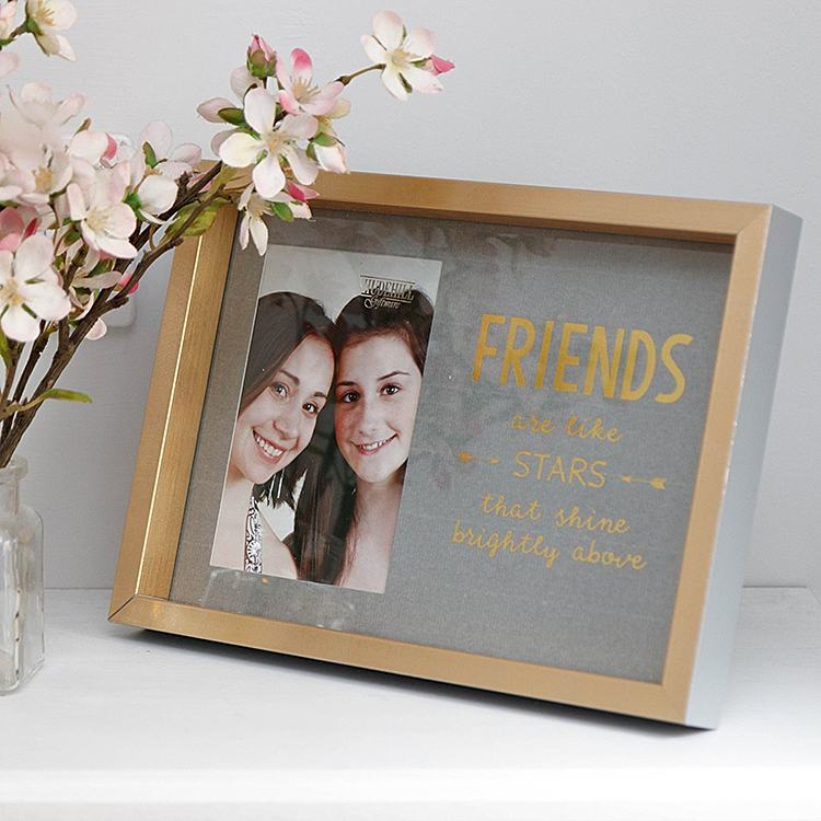 Gold 'Friends Are Like Stars' Photo Frame