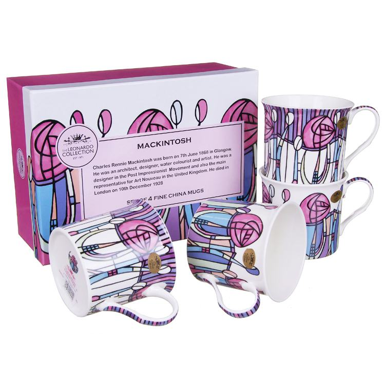 Set of 4 Mackintosh Fine China Boxed Mugs