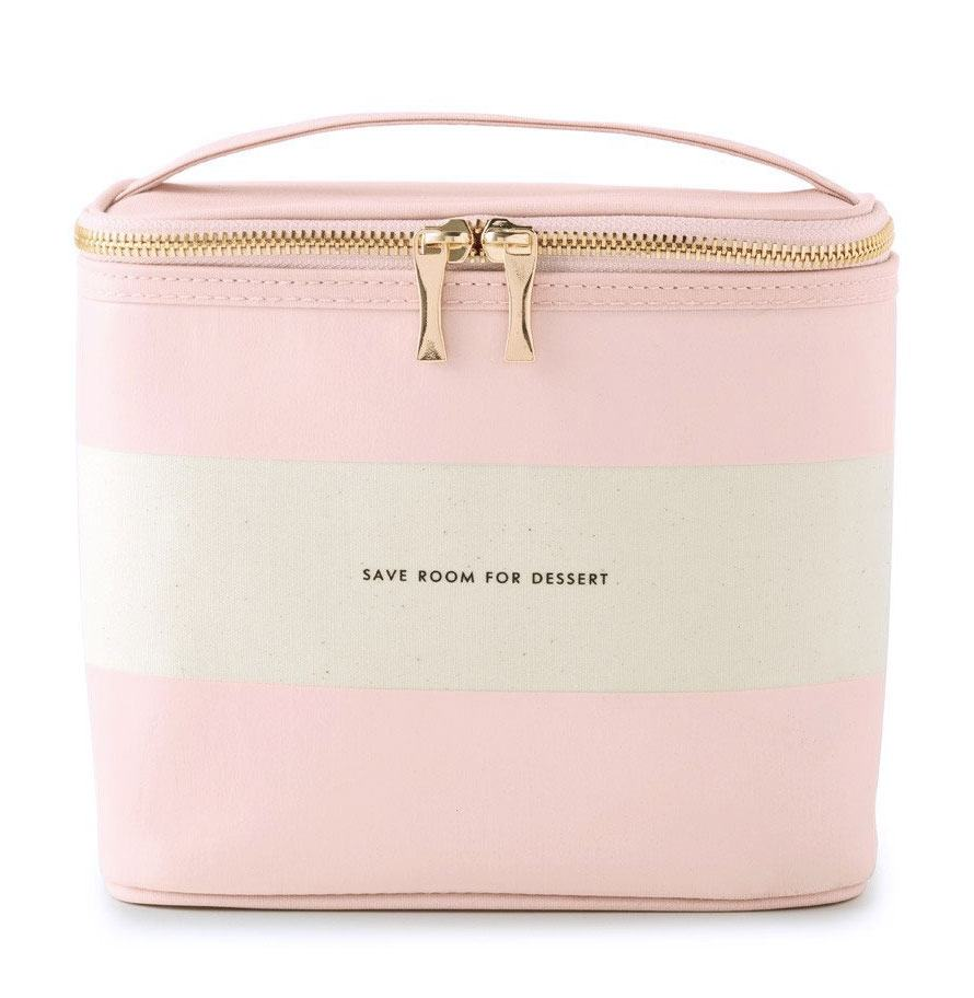 Kate Spade New York Blush Rugby Stripe Lunch Tote Bag
