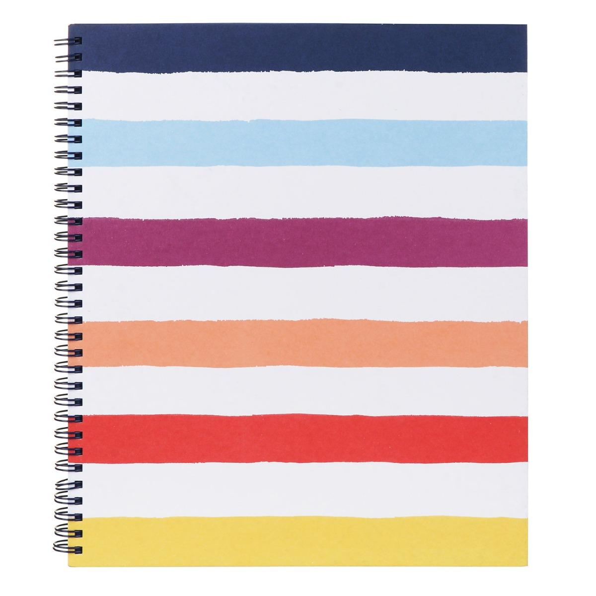 Kate Spade New York Candy Stripe Large Spiral Notebook