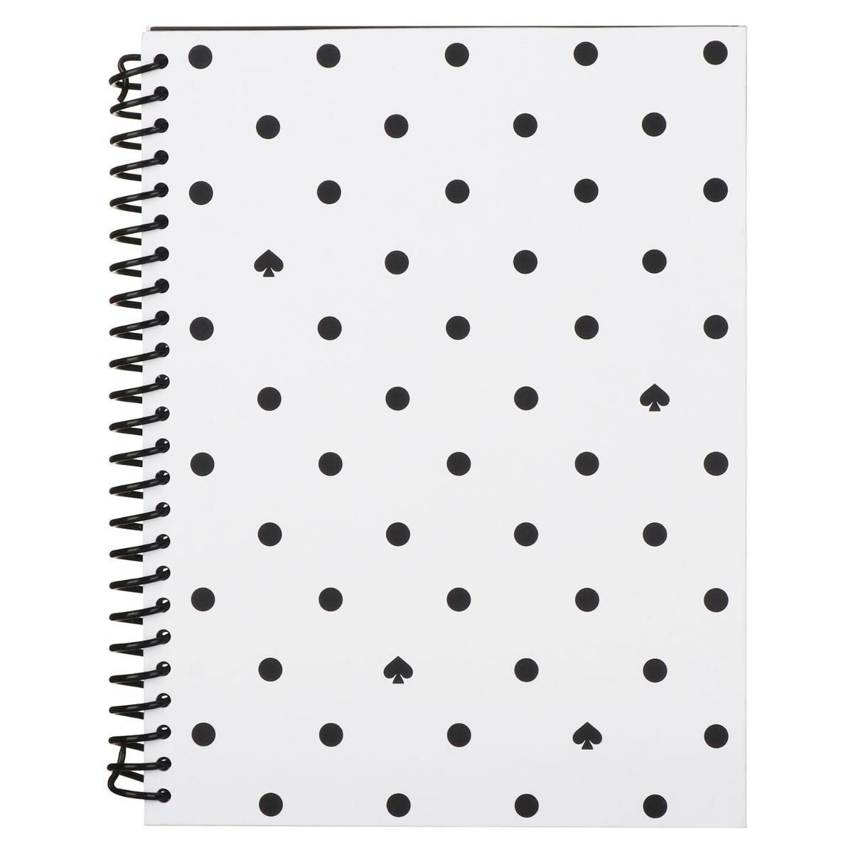 Kate Spade New York Black Spade Dot Small Spiral Notebook