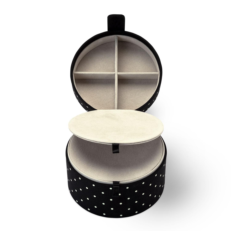 Kate Spade New York Black Dot Travel Jewellery Organiser Box