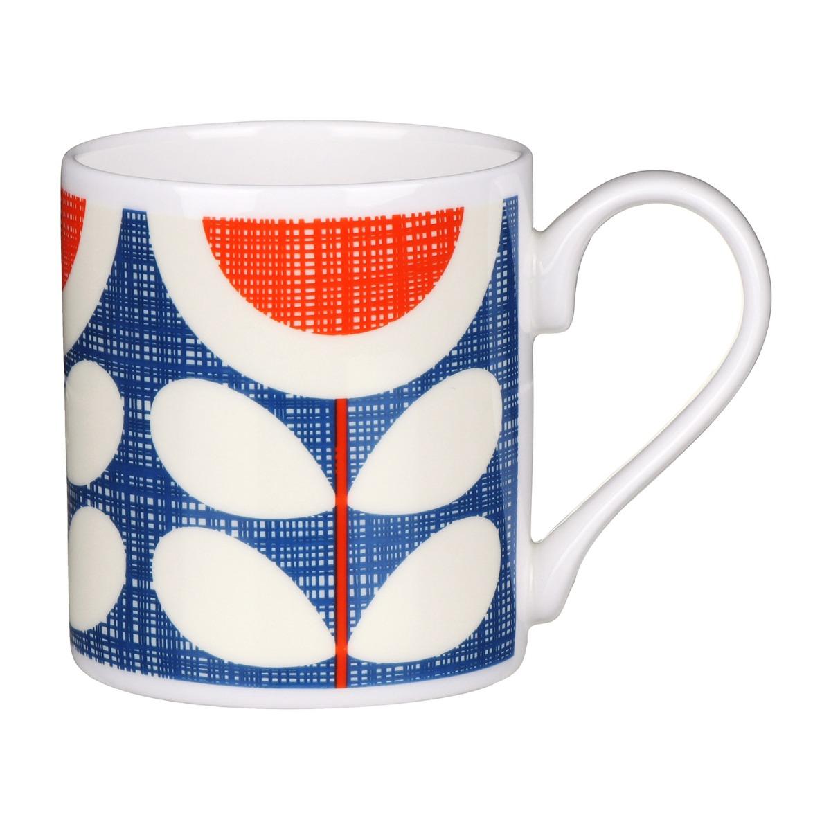 Orla Kiely Blue Scribble Sunflower Standard Mug