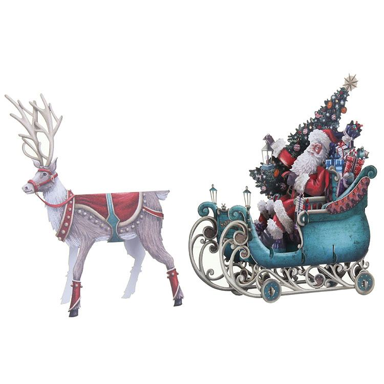 Me & McQ Santa's Sleigh 3D Christmas Card