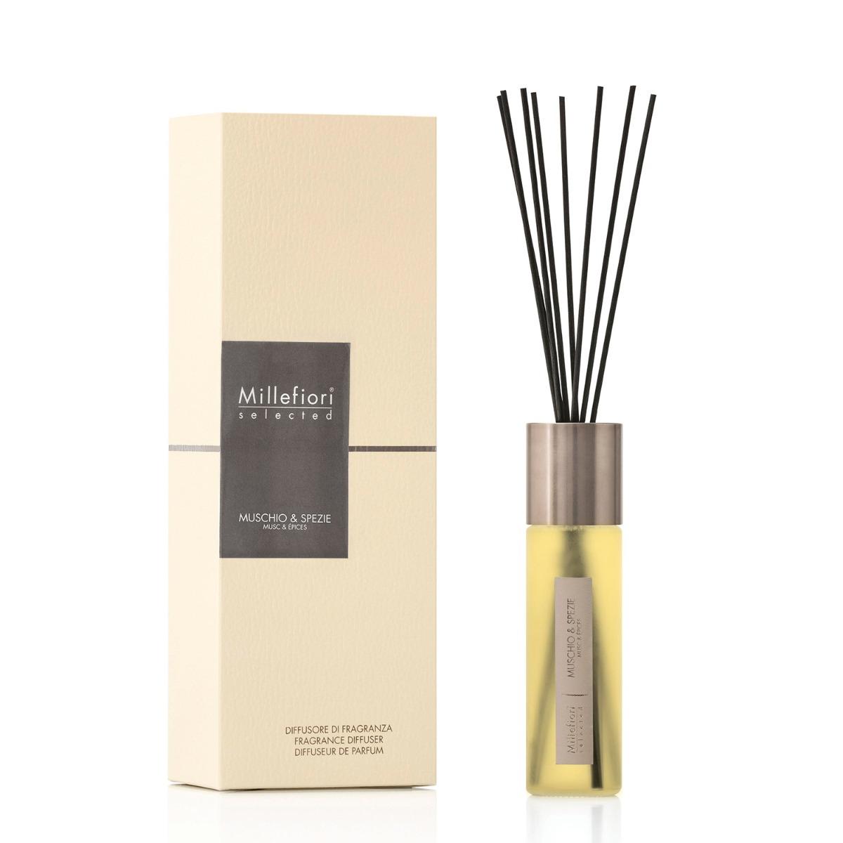 Millefiori Selected Muschio Spezie 100ml Fragrance Diffuser Campus Gifts