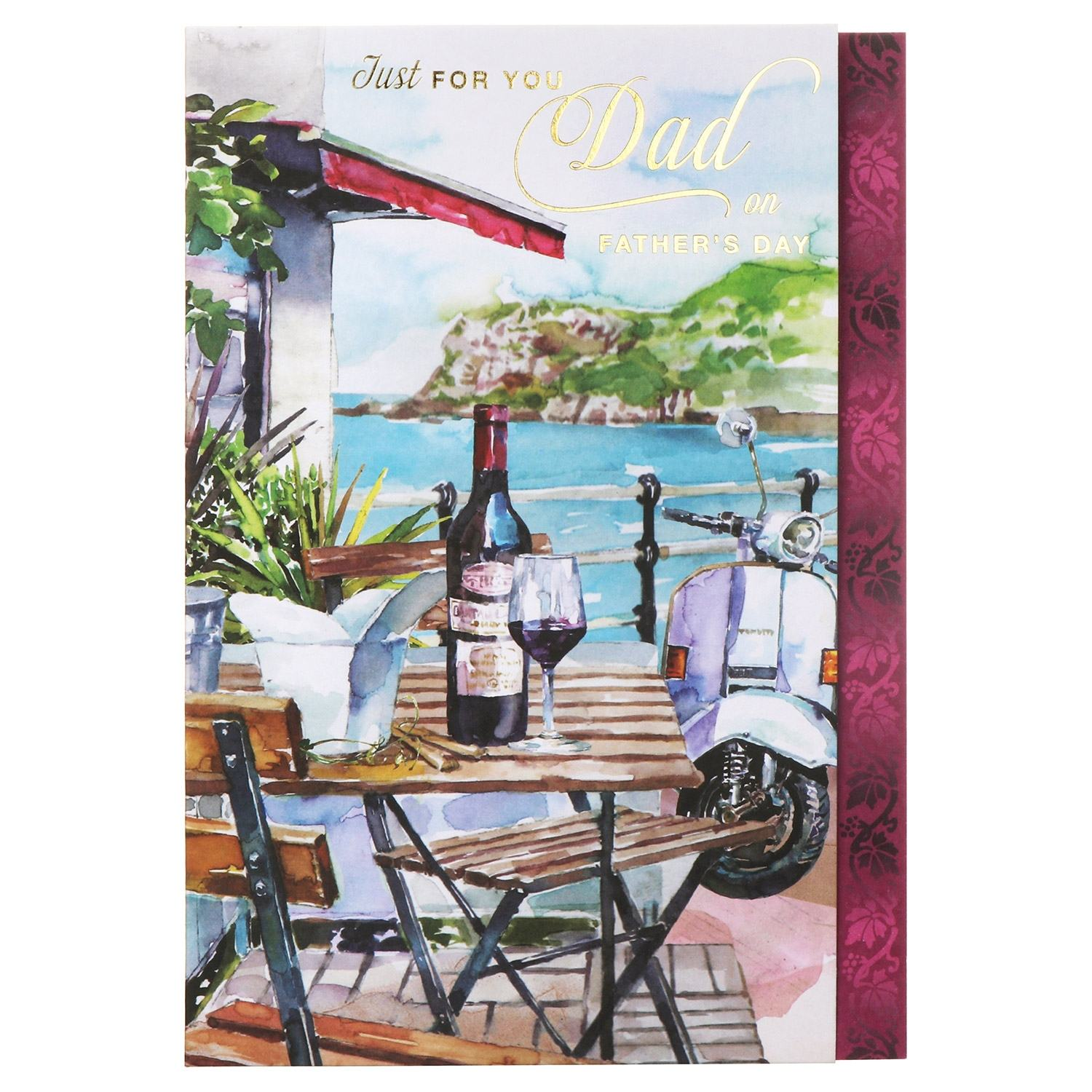 Large 'Café by The Coast' Father's Day Card