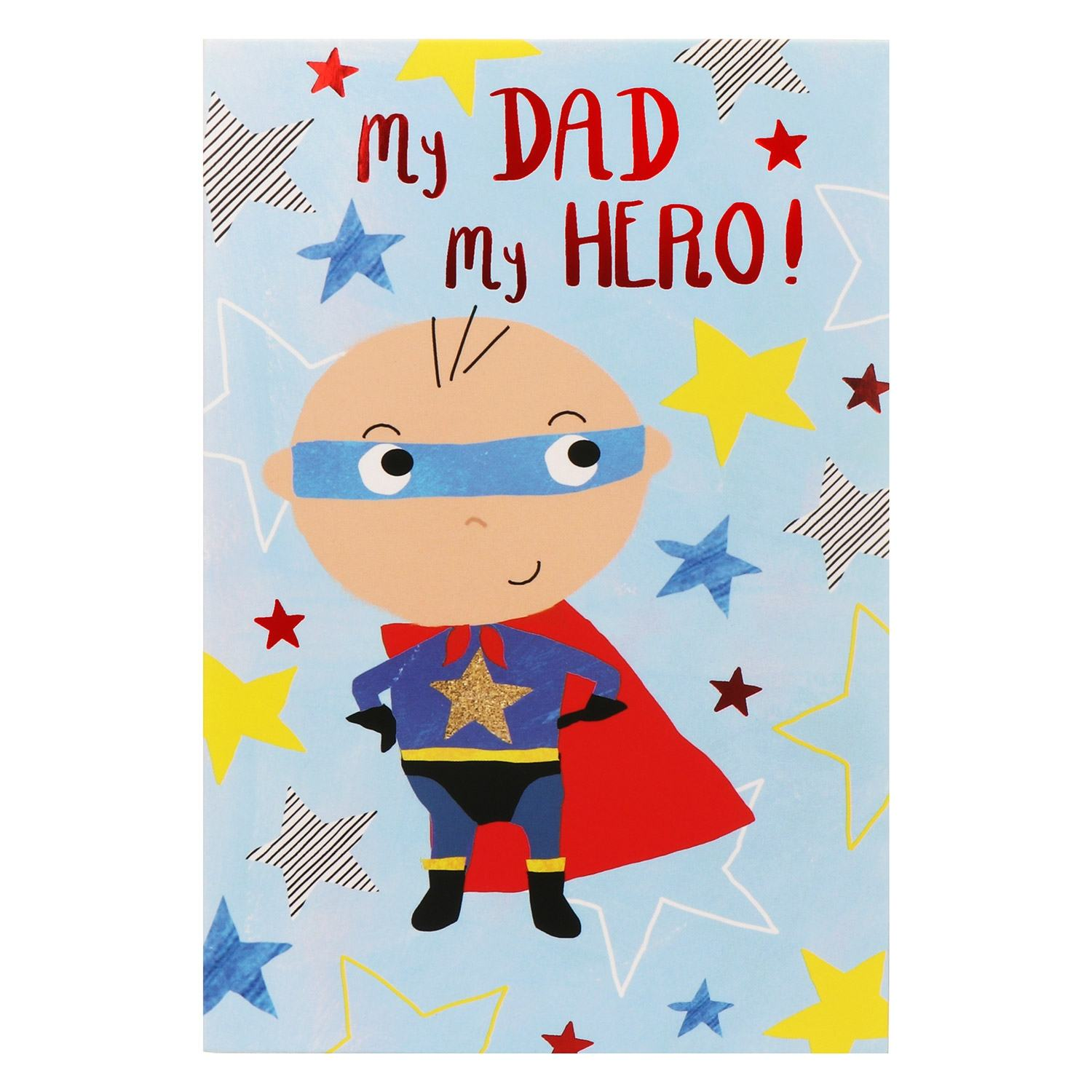 'My Dad My Hero' Father's Day Card