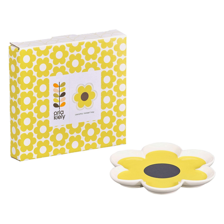 Orla Kiely 6 Petal Flower Yellow Trinket Tray