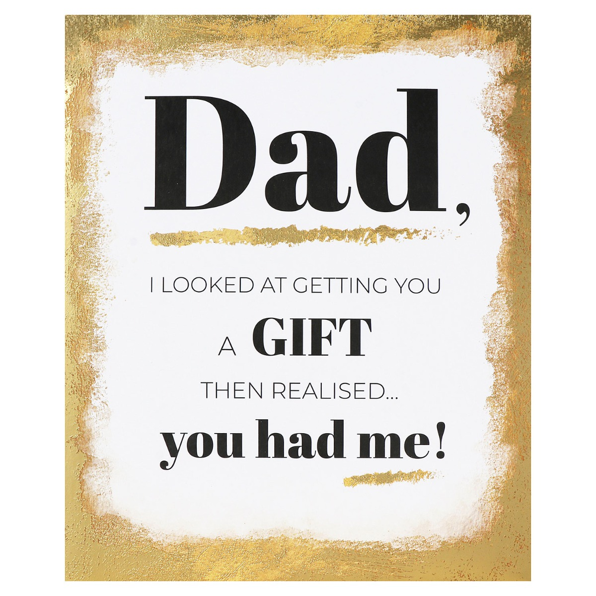 Mono 'Gold Frame Gift' Father's Day Card