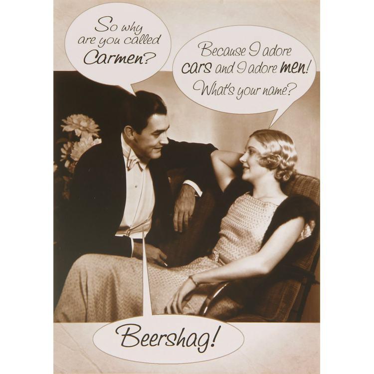 Paperlink Rhubarb Pie Beershag Birthday Card