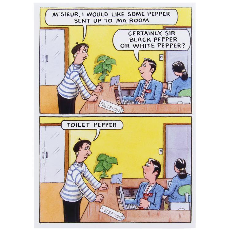 Paperlink Bottom Line Pepper Birthday Card