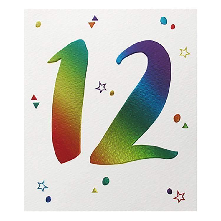 Paperlink 12th Birthday Card