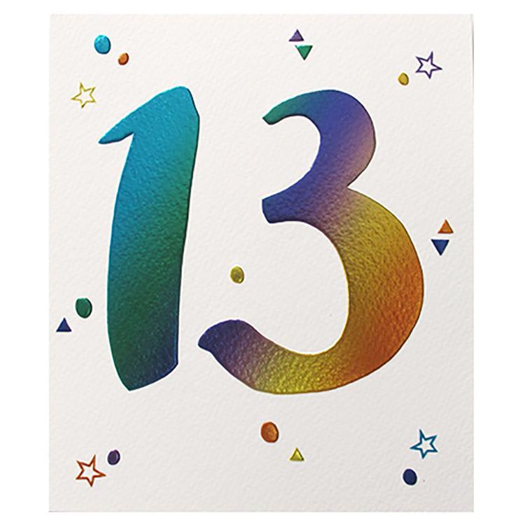 Paperlink 13th Birthday Card