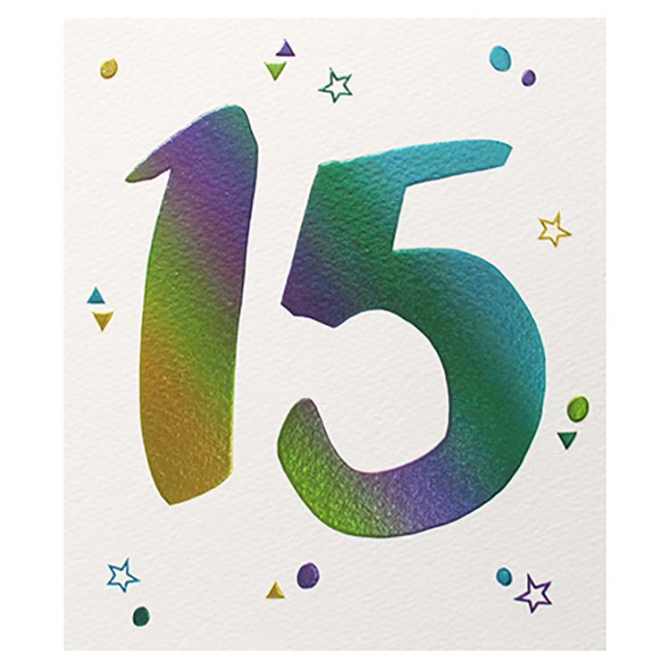 Paperlink 15th Birthday Card