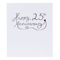 Paperlink 25th Wedding Anniversary Card