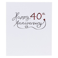 Paperlink 40th Wedding Anniversary Card