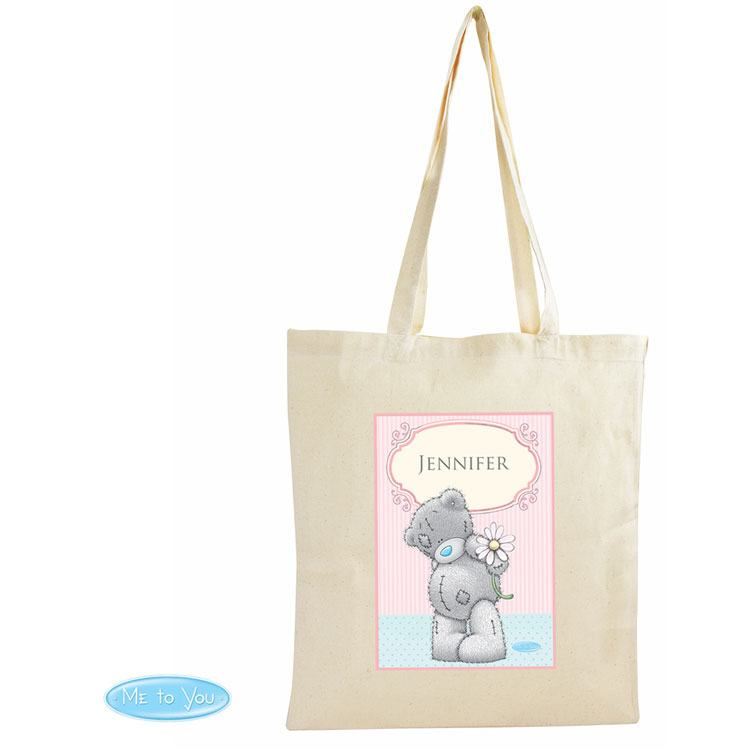 Personalised Me To You Daisy Cotton Shopper Bag