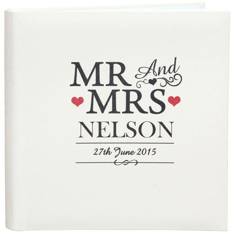 Personalised Mr and Mrs Traditional Photo Album