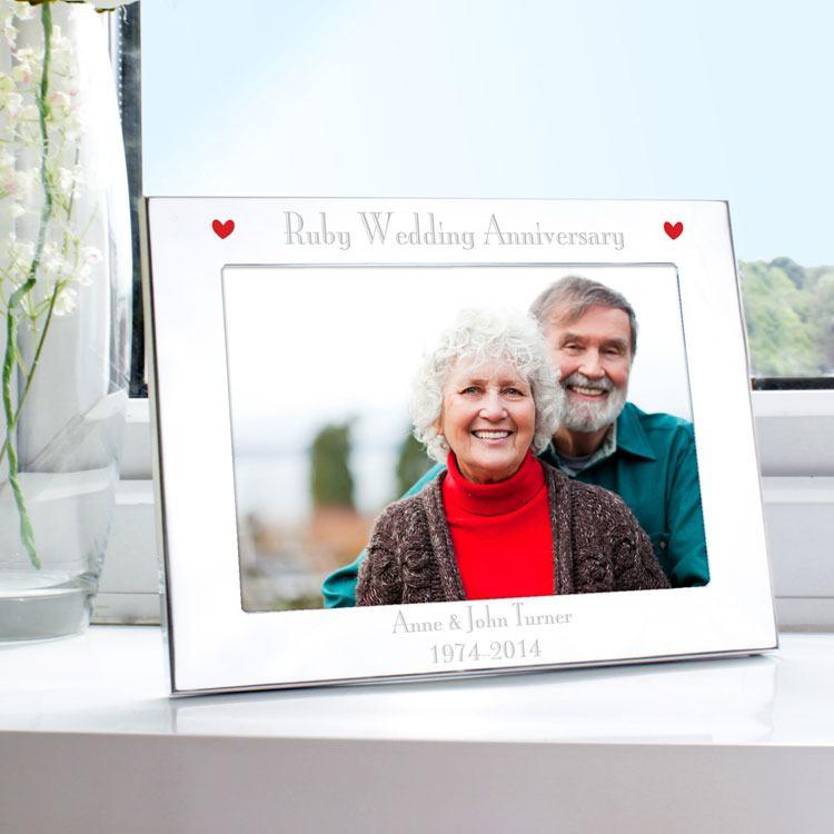 "personalised ruby wedding anniversary 5 x 7"" frame"