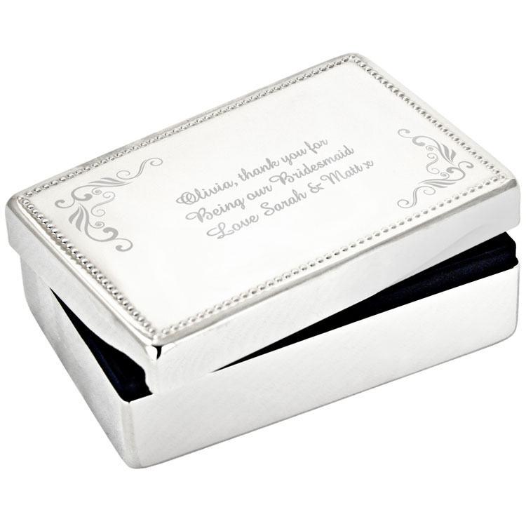 Personalised Swirl Jewellery Box
