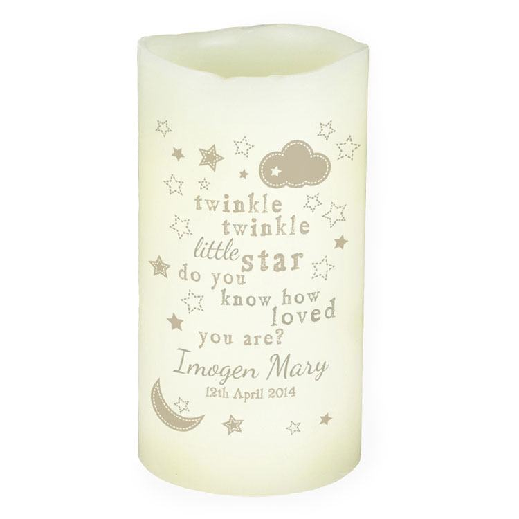 Personalised Twinkle Twinkle LED Candle