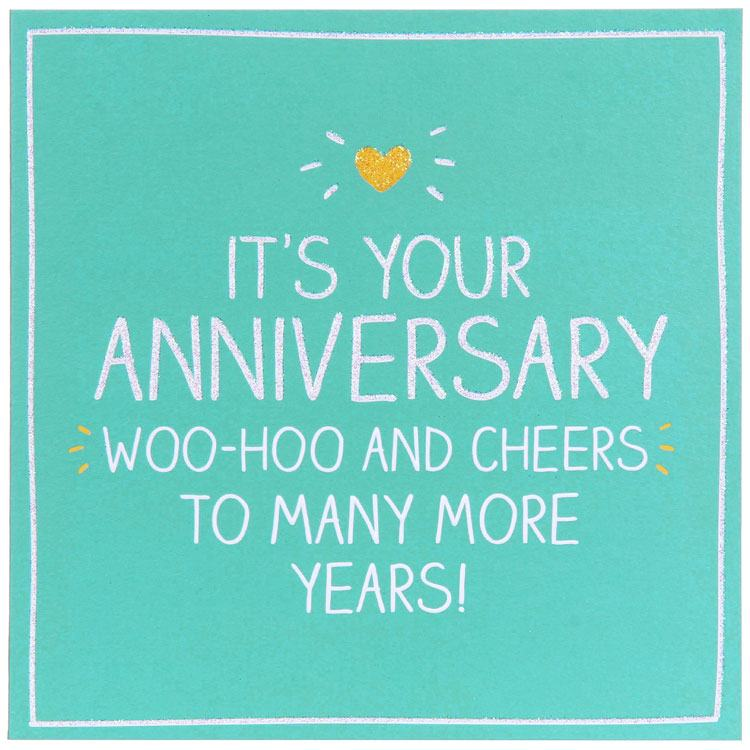 Happy Jackson Its Your Anniversary Woohoo And Cheers Card