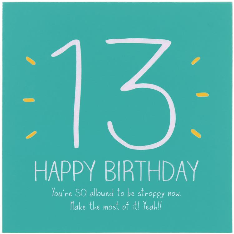 Happy jackson 13th happy birthday card campus gifts bookmarktalkfo Image collections
