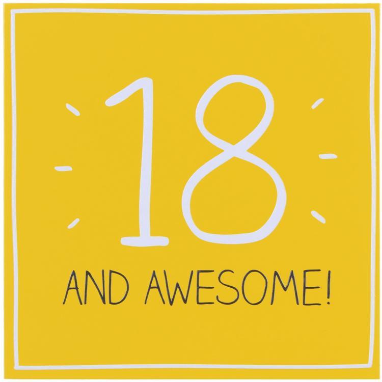 Happy Jackson 18 & Awesome! Card