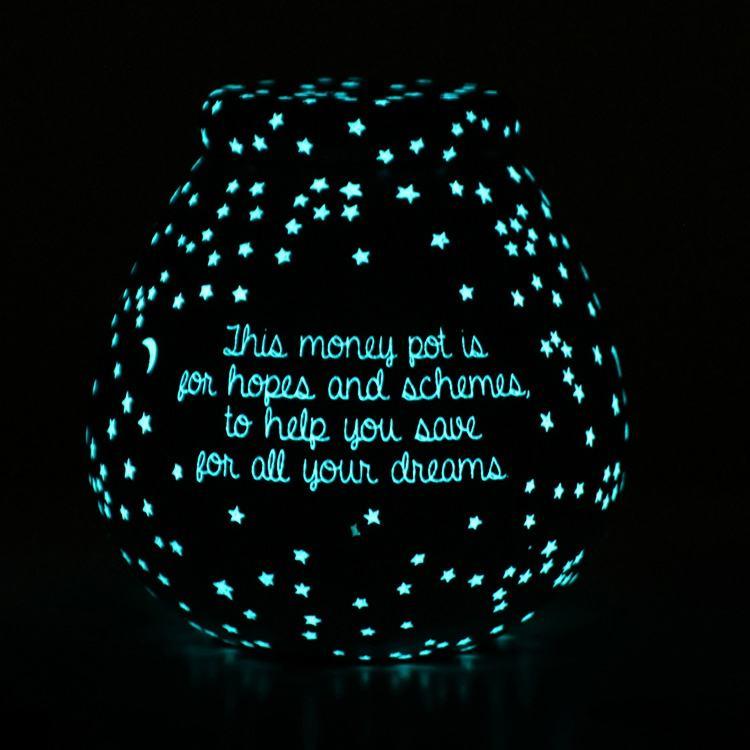 Pot of Dreams Glow in the Dark Stars Money Pot