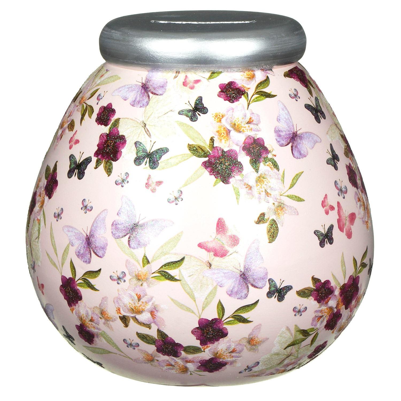 Pot of Dreams Butterfly Floral Money Pot